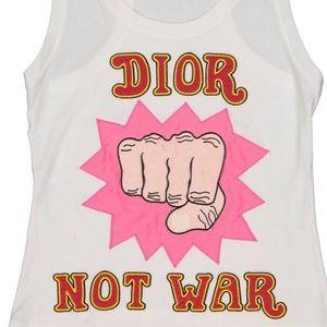 "CHRISTIAN DIOR BOUTIQUE ""DIOR NOT WAR"" tank top"